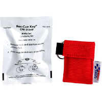 First Aid Only M5092 Ambu Res-cue Key CPR Shield, 1-Way Valve, Rd. Pouch