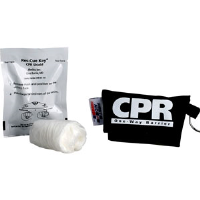"First Aid Only M5097 Ambu Res-cue Key CPR Shield, ""CPR"" Black Pouch"