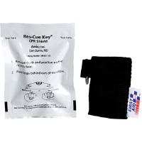 First Aid Only M572 Ambu Res-cue Key CPR Shield, 1-Way Valve, Blk. Pouch