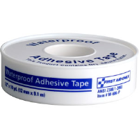 "First Aid Only M686-P Waterproof First Aid Tape w/Plastic Spool, 1/2"" x 10 yds"