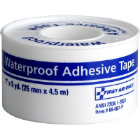 "First Aid Only M687-P Waterproof First Aid Tape w/Plastic Spool, 1"" x 5 yds"