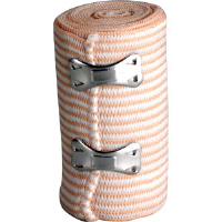 "First Aid Only M698 Elastic Bandage w/2 Fasteners, 3"" x 5 yds"