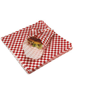 Marcal 1097 Grease Resistant Red Checkered Food Sheets