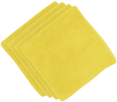 "Buff and Shine MF1Y 16"" Micro Fiber Towels, (4 Pk.) Yellow"