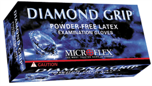 Microflex MF300M Diamond Grip Gloves -100, Medium