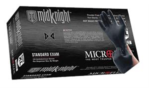 Microflex MK296M MidKnight Gloves -100, Medium