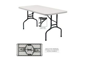 "National Public Seating BT3060 30"" X 60"" Rectangular Blow Molded Table"