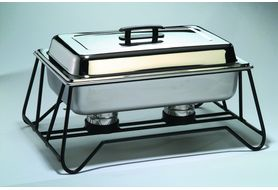 American Metalcraft CFKIT Pans &amp; Lids For Stackable Wrought Iron Chafer Frame <br />