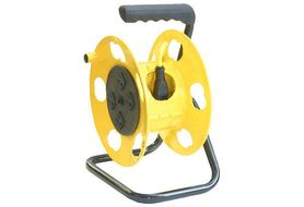 Bayco Products K-2000 Quad Plug Cord Reel with Circuit Breaker