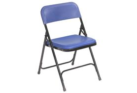 National Public Seating 805 Premium Lightweight Folding Chair, Blue