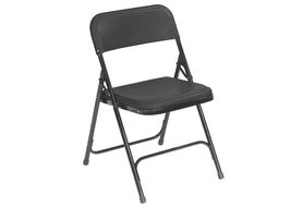 National Public Seating 810 Premium Lightweight Folding Chair, Black