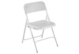 National Public Seating 821 Premium Lightweight Folding Chair, White
