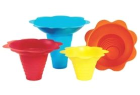 Paragon 6502 Flower Sno Cone Drip Trays - 4 oz, 100/Cs