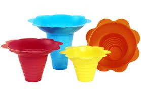 Paragon 6504 Flower Sno Cone Drip Trays - 12 oz, 100/Cs