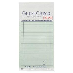 National Check A7000 GuestChecks™ Restaurant Guest Ticket