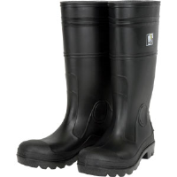 "MCR Safety PBP120 16"" PVC Boots, Plain Toe, Size 10"