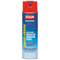 Krylon S03911 Water Based Marking Paint, APWA Brilliant Red