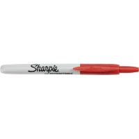 Sharpie® Retractable Permanent Marker, Red