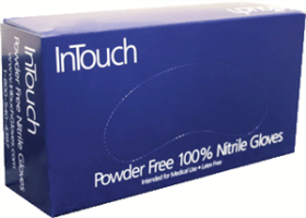 Lightning Gloves Q311-L InTouch Nitrile Gloves, Large