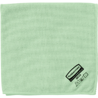 "Rubbermaid Q620 Microfiber Cloth, Green 16"" x 16"""