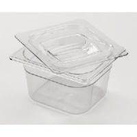 Rubbermaid 105P CLE Cold Food Pan Containers, 1/6 Size