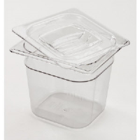 Rubbermaid 106P CLE Cold Food Pan Containers, 1/6 Size