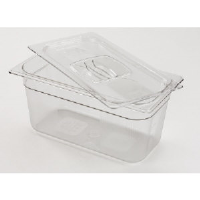 "Rubbermaid 117P CLE Cold Food Pan Containers, 4"" Deep, 1/3 Size"