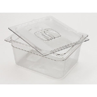 "Rubbermaid 118P CLE Cold Food  Pan Containers, 6"" Deep, 1/3 Size"
