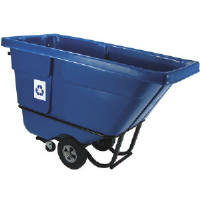 Rubbermaid 1305-73 BLU Bulk Recycling Tilt Truck