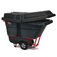 Rubbermaid 1316 BLA Tilt Trucks, 1 Cubic Yard, 2000 Lb. Capacity