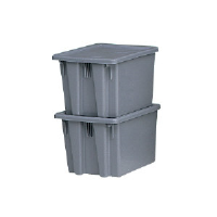 Rubbermaid 1732 GRA Palletote® Box, 2.6 CU YD