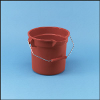 Rubbermaid 2614 RED Brute® Plastic Buckets, 14 Gallon, Red