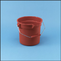 Rubbermaid 2963 RED Brute® Plastic Bucket, 10 Quart, Red