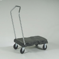 Rubbermaid 4400 BLA Triple Utility Trolley, 250 Lb.