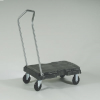 Rubbermaid 4401 BLA Triple Utility Trolley, 500 Lb.