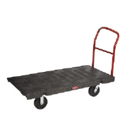 Rubbermaid 4436-10 BLA Pneumatic Platform Truck, 24 x 48""