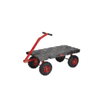 Rubbermaid 4477 BLA 5th Wheel Wagon Truck, Pneumatic Wheels