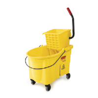 Rubbermaid 6186-88 YEL WaveBrake® Bucket and Wringer, 44 Quart