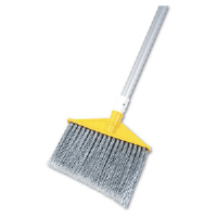 Rubbermaid 6385 GRA Angled Broom, Aluminum Handle