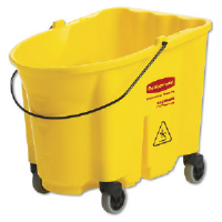 Rubbermaid 7570-88 YEL WaveBrake® Bucket with Caster Kit, 35 Quart