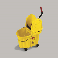 Rubbermaid 7577-88 YEL WaveBrake® Down Press Mop Bucket, 35 Qt. Yellow