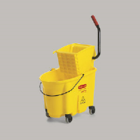 Rubbermaid 7580-88 YEL WaveBrake® Side Press Mop Bucket, 35 Qt. Yellow