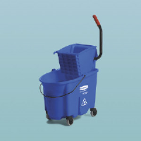 Rubbermaid 7588-88 BLU WaveBrake® Side Press Mop Combo 35 Quart, Blue