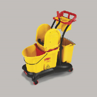 Rubbermaid 7777 YEL WaveBrake® Downward Pressure Mop Trolley