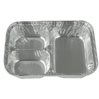 Reynolds RC750 Aluminum 3 Compartment Feeding Trays, 500/Case
