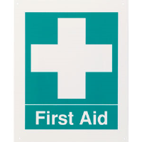 """First Aid"" Rigid Plastic Sign"
