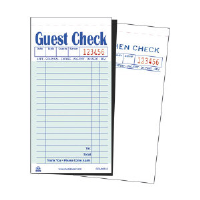 Royal Paper Products GC6000-2 Carbon Guest Checks, 17 Lines, Green