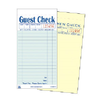 Royal Paper Products GC7000-2 Non Carbon Guest Checks, 17 Lines, Green