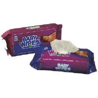 Royal Paper Products RPBWUR-80 Unscented Baby Wipes, 12/80