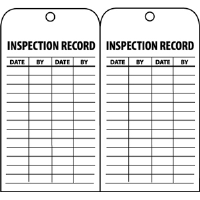 National Marker RPT112 Inspection Record Tags, 25/Pk.